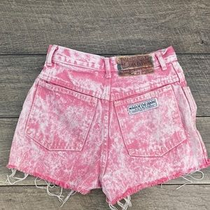 Pink Acid Wash shorts. AUTHENTIC MADE IN THE SHADE